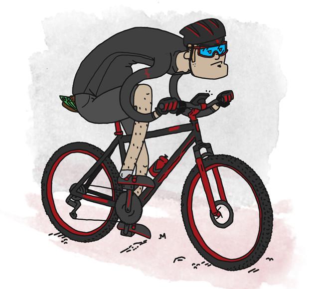 在团队骑行中,我们会遇到各种各样的人,对骑行的热爱将风格、能力、年龄、目标各不相同的人们聚集在一起。有趣的是,无论是下班后的夜骑刷街还是周末相邀骑游,在队伍中总有些典型人物,他们的存在让整个队伍充满乐趣。你是哪一种? 1.我要做PRO 这种人骑得飞快,队伍中很少有人跟得上他。他总能从厂家弄到免费的装备,常常参加精英组的比赛。他在车架上装两个水壶,可能会装一个小号的车尾包,却从不背包。每次见到他,他的骑行服总是紧绷绷的,把所有的补给品装在后兜里,这样方便在骑行的过程中随时补给。大部分时候只能在集合点和途中的